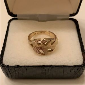Make offer! Lia Sophia gold tone Leaf ring size 6